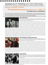 Jubiläumspaket: Kurt Maetzig zum 100. Geburtstag